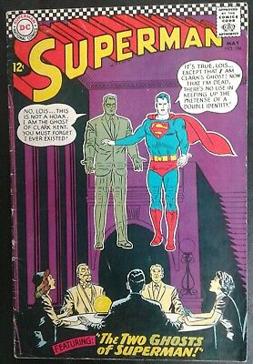 Superman #186 DC Comics 12 cent cover Silver Age! Curt Swan Cover VG 4.0 20% OFF
