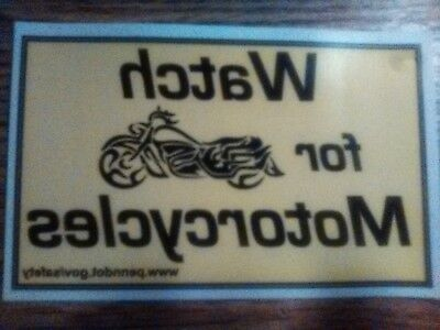 Watch For Motorcycles, Decal Window Sticker