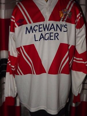 Vintage Rare 1991-94 ST Helens Home L/S  Rugby Shirts (XL) Jersey Trikot Maglia