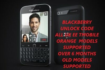 Blackberry Ee Orange T-Mobile Uk: Unlock Code For  Priv 9720 Q10 Q20 Z10 Z30
