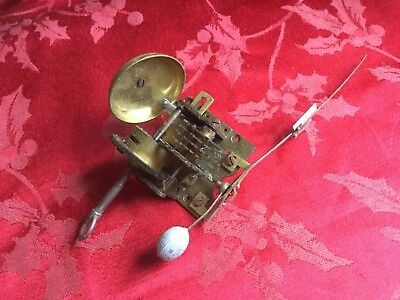 Vintage German Metronome Movement For Spares Was Working Good Spring Bell Etc