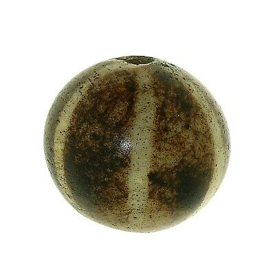 "(0160) Antique Opalised Palmwood Large ""Pumtek"" bead, Burma"
