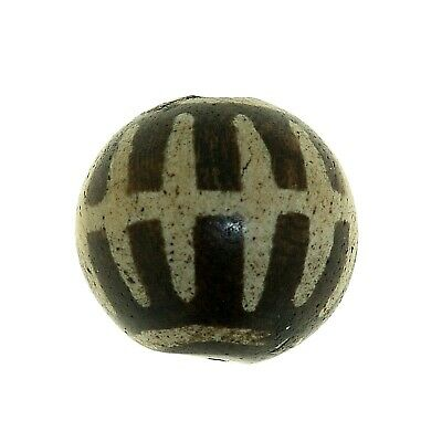 "(0657) Antique Opalised Palmwood ""Pumtek"" bead, Burma"