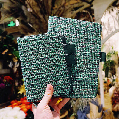 """Green Lady Basic"" 1pc Beautiful Journal Linen Fabric Cover Notebook Diary Gift"
