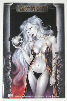Lady Death Mischief Night #1 Chaos! Comics 2001 Hot Mayhew Cover