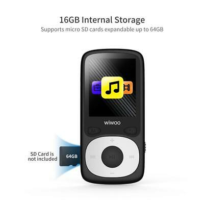Wiwoo 16GB MP3 Player With FM Radio,Lossless Sound, With Independent Lock &amp