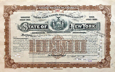 State of New York > 1948 Canal Improvement Loan $10,000 bond certificate
