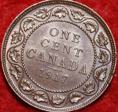 Uncirculated 1917 Canada One Cent Foreign Coin MS+