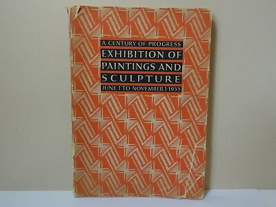 1933 Chicago World's Fair A Century of Progress Exhibition Paintings Book