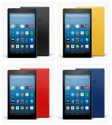 Kindle Fire HD 8 Tablet with Alexa , 16GB  2 Camera  Latest 2017 Model