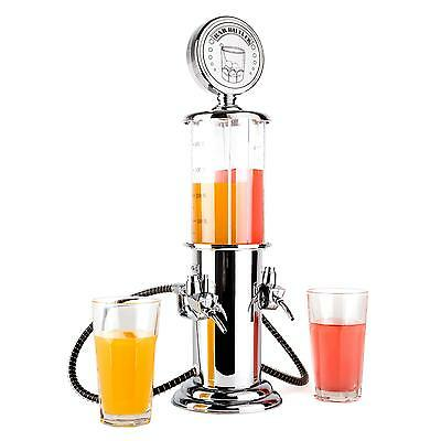 Double Distributeur Boissons Oneconcept Hazzlehov Bar Retro Fun Vintage Cocktail