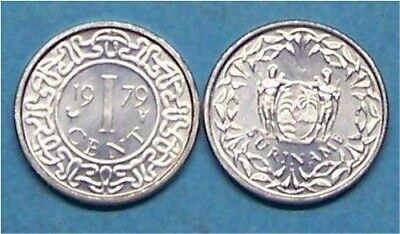 SURINAME  1979   1 CENT   KM11a  UNCIRCULATED COIN