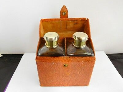 Lovely Asprey Cased Silver Mounted Pair Of Cologne Bottles