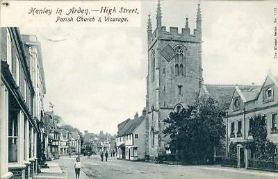 Printed Postcard Of The High Street, Henley-In-Arden, Warwickshire By Wrench