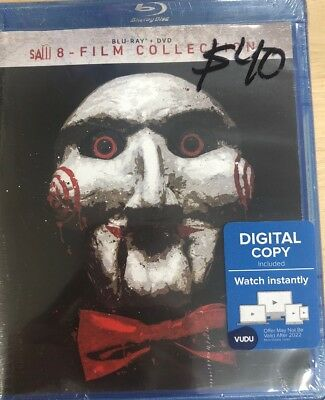 Saw 8-Film Collection (Blu-ray + DVD, 2018, Unrated) New Sealed Free Shipping