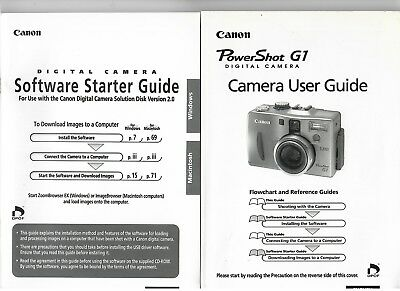 (R-0321) Power Shot G1 Digital Camera USer Guide and Software Guide