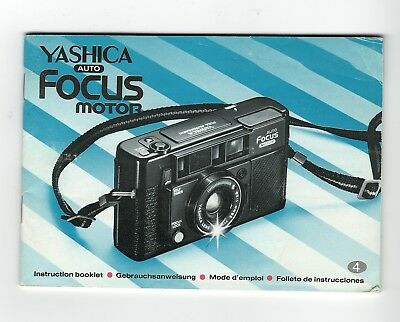 (R-0365) Yashica Auto Focus Motor Camera Instruction Booklet