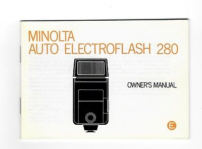 (R-0401) Minolta Auto Electroflash 280 Owner's Manual Printed in Japan