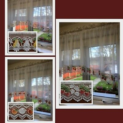 Beautiful Voile  Net Curtains with Lace (Guipure)