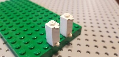 LEGO 50 BLACK BRICKS MODIFIED 1 X 1 X 2 WITH SHUTTER HOLDER PIECES