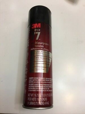 3M Super 77 Multipurpose Adhesive 16.75 Oz. New