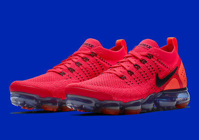 BRAND NEW $190 Nike Air Vapormax Flyknit 2 AR5406-60 Red Orange Mens Shoes sz 14