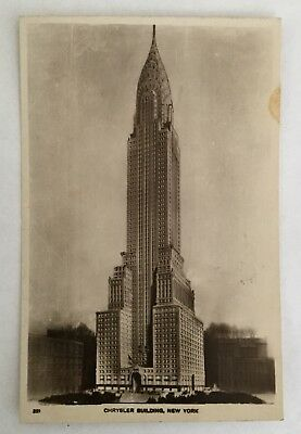 Lot-Vintage Postcard - (2) RPPC, RCA Building & Chrysler Building, New York City