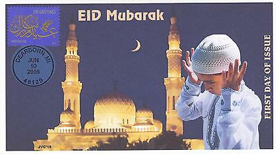 Jvc Cachets - 2016 Eid Holiday Muslim First Day Cover Fdc Religious - Style #1