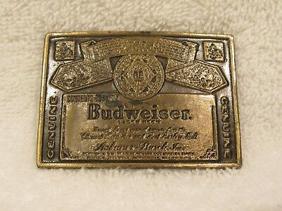 Vintage Budweiser Brass Label HARD TO FIND LADIES belt buckle