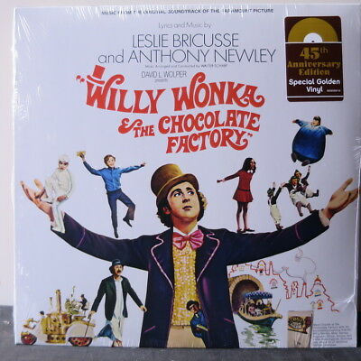 'WILLY WONKA & THE CHOCOLATE FACTORY' Soundtrack Ltd. Edition GOLD Vinyl LP NEW