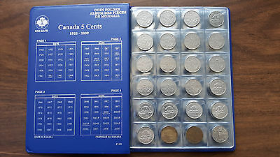1922-2018 Canadian Nickel Collection HIGH GRADE 106 Different Coins inc1926Near