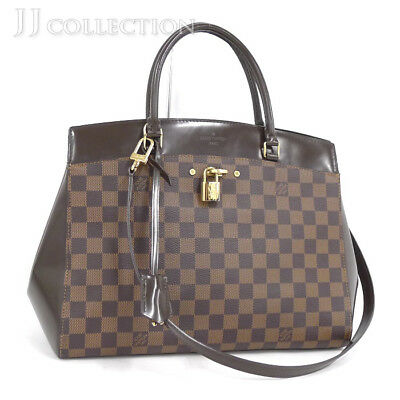a78fe40ca75 LOUIS VUITTON RIVOLI MM Damier Ebene 2Way Handbag N41150 Authentic ...