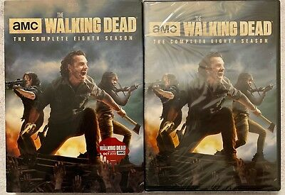 New Amc The Walking Dead Complete Eighth Season Dvd 5 Disc Set + Slipcover Sleev