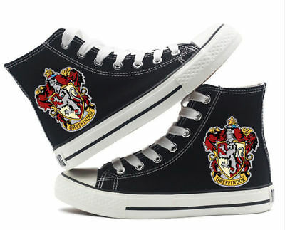 Muggle Harry potter Gryffindor High top Canvas Flat Shoes Casual Sneaker Shoe