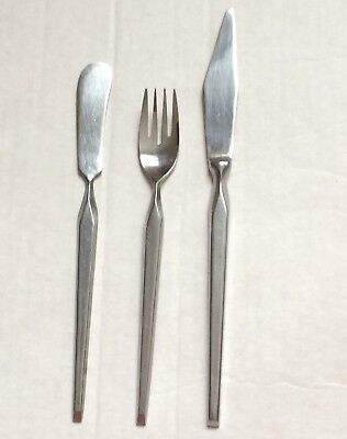 Vintage Mid-Century RAVENNA 3 pieces STANLEY ROBERTS Stainless