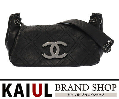 f5e6c25b4030 Chanel Matorasse chain shoulder bag leather metal diamond stitch here mark