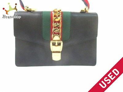 d6baa040ca9f GUCCI 477631 SYLVIE Large Black Leather Shoulder Bag -  4