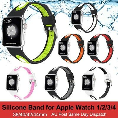 Sports Silicone Strap Band For Apple Watch iWatch Series 4/3/2/1 38/40/42/44mm