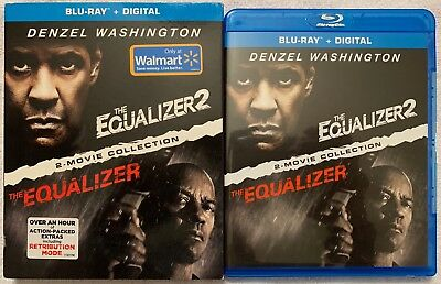 The Equalizer 2 Movie Collection Blu Ray 2 Disc Set Slipcover Walmart Exclusive