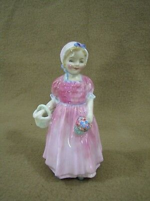"Vintage Royal Doulton English Bone China ""Tinkle Bell"" Girl w/Flowers PC"