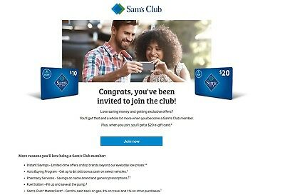Sam's Club $20 E-gift Invite For New Members + Secret Bonus (Read Description!)