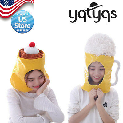 Yqtyqs Party Beer Mug  Halloween Caps Costumes Accessories Headgear Hat Pudding