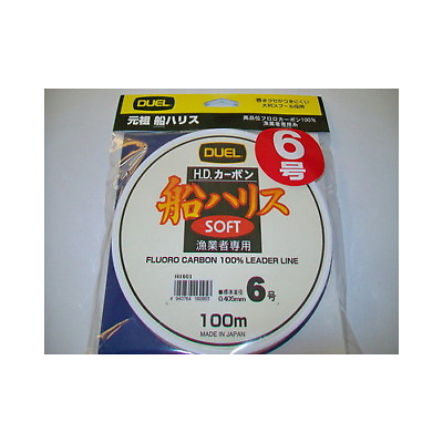 FLUOROCARBON DUEL SOFT HD 6.0 D 0.405mm FROM COIL 100 m LOAD 11kg