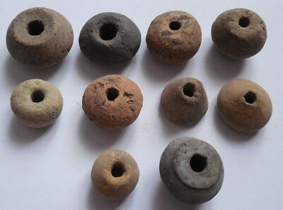 Celtic Period 10 clay beads for weaving