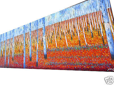 """Large 94""""  Tree original landscape art painting Red Earth forest woods Australia"""