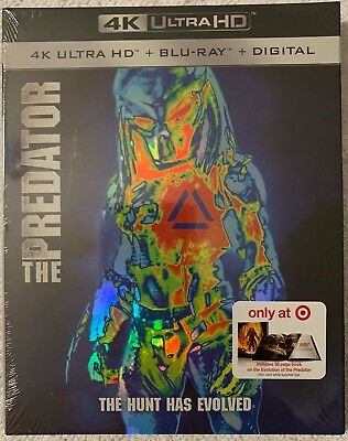 New The Predator 2018 4K Ultra Hd Blu Ray Target Exclusive Digibook + Slipcover