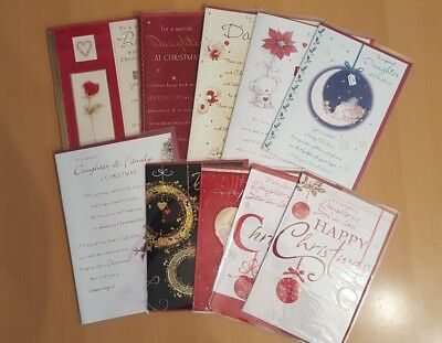 *JOB LOT* Christmas Cards - Daughter, Daughter & Son in Law, & Family (45 Cards)