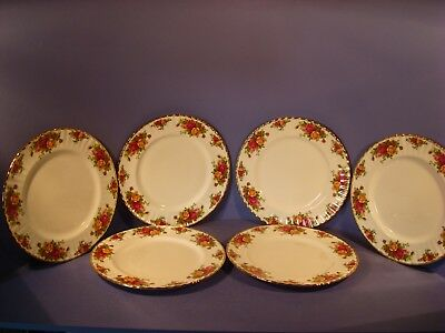 Royal Albert Old Country Roses, Set Of 6 Dinner Plates, 1St Quality