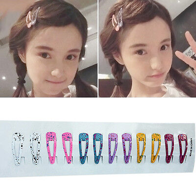 60pcs Girl Baby Kids Child Princess Hair Accessories Slides Snap Hair Pack Clips