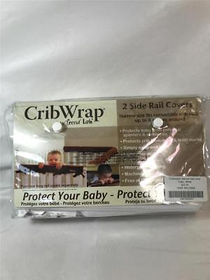 New Trend Lab Waterproof CribWrap Rail Cover, For Narrow Side Crib, White